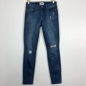 Paige Verdugo Ultra Skinny Jeans Bandana Print 28